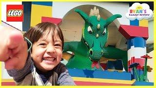 getlinkyoutube.com-LEGOLAND HOTEL TOUR! Amusement Park Family Fun Lego Toys for Kids play Area Children Activities
