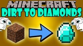 getlinkyoutube.com-DIRT TO DIAMOND MOD - El mod mas TRAMPA de Minecraft - Minecraft mod 1.7.10 Review ESPAÑOL