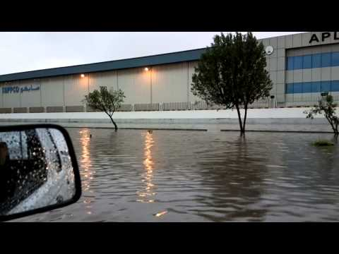 Dammam-Khobar highway flooded roads - Scene 2