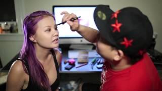 getlinkyoutube.com-Boyfriend Does My Makeup Tag Feat. Gina Darling