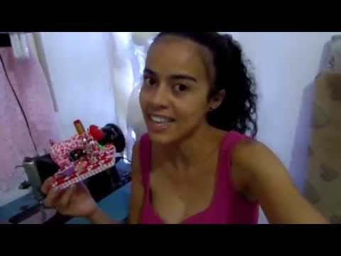 Costure  mini máquina de tecido Alana Santos Blogger