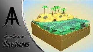 getlinkyoutube.com-Cinema 4D | Speed Modeling | Poly Island