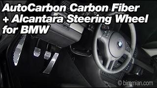 getlinkyoutube.com-AutoCarbon Carbon Fiber +  Alcantara Steering Wheel OLD V1