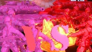 getlinkyoutube.com-Minecraft | RED VS PINK ARMY SOLDIERS CHALLENGE!