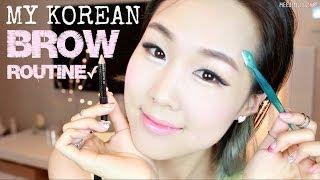 getlinkyoutube.com-Easy Natural Korean Brows in 3 Minutes ♥ Shaping, Grooming, Drawing | 이쁜 눈썹 만들기 비법
