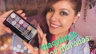 getlinkyoutube.com-Maquillaje tonos morados / Paleta SMOKEY City Color