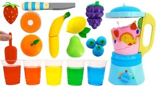 getlinkyoutube.com-Toy Blender Playset Learn Colors & Fruits & Vegetables with Wooden Velcro Toys for Kids Preschoolers