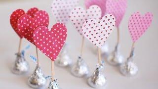 getlinkyoutube.com-Manualidades para San Valentín: Corazones de Kisses de Hersheys | Manualidades para el 14 de febrero