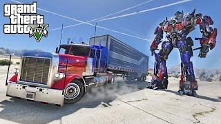 OPTIMUS PRIME DRIFT TRUCK - GTA 5 TRANSFORMERS MOD !!!