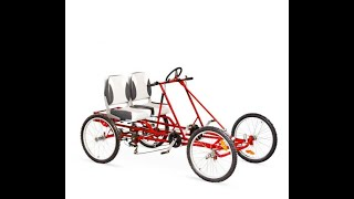 getlinkyoutube.com-Quadracycle 21 Speed 4 Wheel Pedal Bikes