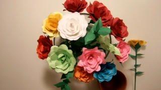 getlinkyoutube.com-كيف تصنع زهره من ورق ?