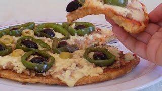 getlinkyoutube.com-بيتزا بدون فرن و بدون عجين كوجبة عشاء في 10 دقائق