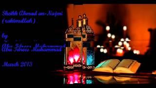 getlinkyoutube.com-Personal & Touching biography of Sheikh Ahmad an-Najmi by Abu Idrees Muhammad