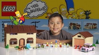 getlinkyoutube.com-The SIMPSONS HOUSE - LEGO Simpsons Set 71006  - Time-lapse Build, Unboxing & Review!