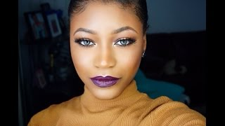 getlinkyoutube.com-Vampy Makeup Look - Morphe 35O | Beauty With Vee ♥