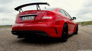 getlinkyoutube.com-Mercedes-Benz C63 AMG BLACK SERIES in Action! Lovely sounds! - 1080p HD