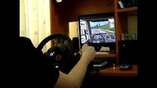 getlinkyoutube.com-Euro Truck Simulator 2 with Logitech Driving Force GT
