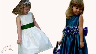 getlinkyoutube.com-Sewing Pattern - Flower Girl Dress - How to sew a traditional 50's style dress