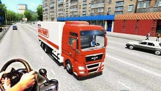 getlinkyoutube.com-MAN TGX Truck Simulator Russia - City Car Driving v1.4, (Full HD 2015) t500 th8 trackir pro v5