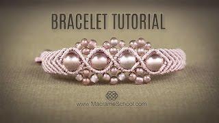 Wavy Macramé Flower Bracelet Tutorial by Macrame School