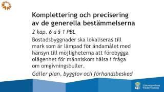 Nya bestämmelser om buller - Åsa Borgardt, Länsstyrelsen Västerbotten