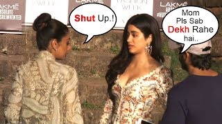 Sridevi FIGHTS With Daughter Jhanvi Kapoor In Public At Lakme Fashion Week 2018 Finale