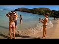 HD Wide Angle View of Hanauma Bay Beach: Best Beach and Snorkeling Spot on Oahu, Hawaii
