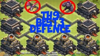 getlinkyoutube.com-4 MORTAR TH9 TROPHY BASE TOP 3 IN THE WORLD BASES | WAR | ANTI-HOG | ANTI-GOWIPE pt 2