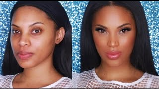 getlinkyoutube.com-Full Coverage Foundation Routine  / Highlight & Contour