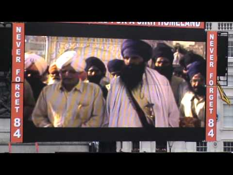 June 1984 Sikh Genocide Remembrance March &amp; Freedom Rally London - Sunday 5th June 2011 - PART 2/4