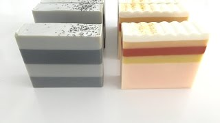 getlinkyoutube.com-Striped Soapmaking and Cutting