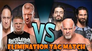 getlinkyoutube.com-Brock Lesnar, Triple H & Samoa Joe vs Roman Reigns, Seth Rollins & Goldberg (Elimination Tag)
