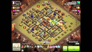 getlinkyoutube.com-Clash Of Clans   2 Air Sweepers   3 Stars Maxed TH10   GoLavaLoon Attack   Part  HD