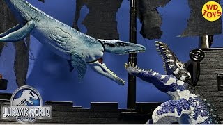 getlinkyoutube.com-New Animal Planet Deep Sea Adventure Liopleurodon Vs Mosasaurus Jurassic World Unboxing