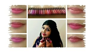 getlinkyoutube.com-Miss Claire Soft Matte Lip Creams 💄New Shades💄 Lip Swatches 💋