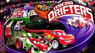 getlinkyoutube.com-Micro Drifters Motorized Super Speedway Track Playset CARS 2 Disney Motorzooma Rennbahn