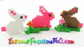 DIY Perler Beads Bunny - How to Tutorial Easter Hama Beads Creations