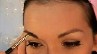 getlinkyoutube.com-How To Do Pin-Up Girl Make-Up ( Bettie Page  or Dita Von Teese ) | Kandee Johnson