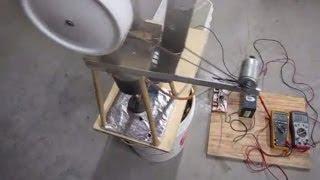 getlinkyoutube.com-Stirling engine runs fan, pump, charges battery at same time