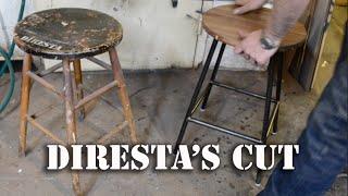 DiResta's Cut: Steel & Walnut Stool