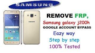 SAMSUNG GALAXY J200H FRP UNLOCK (GOOGLE ACCOUNT BYPASS) 100%TESTED
