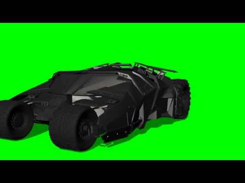Batman Tumbler in move - the Dark Knight -greenscreen effects - green screen effects