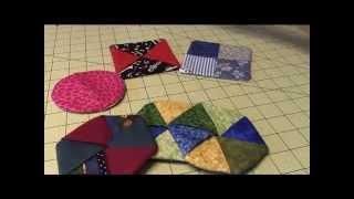 getlinkyoutube.com-Folded Fabric Coasters