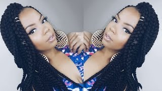 getlinkyoutube.com-HOW TO | QUICK POETIC JUSTICE INSPIRED BRAIDS ft. OUTRE 3D BRAID ! #CROCHETBRAIDS