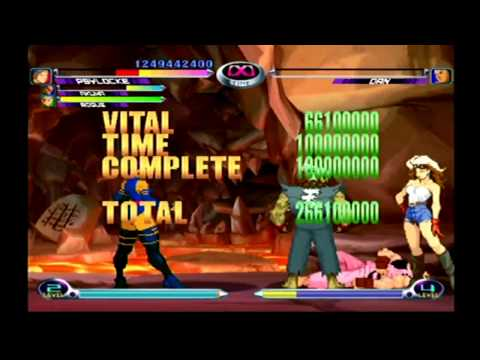 Marvel vs. Capcom 2 - Akuma, Psylocke, Rogue (Part 2)