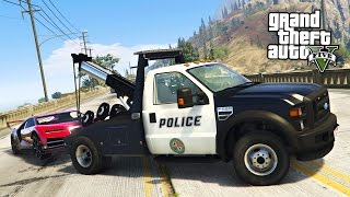 getlinkyoutube.com-GTA 5 Mods - PLAY AS A COP MOD!! GTA 5 Police Tow Truck Towing Super Cars LSPDFR Mod! (GTA 5 Mods)