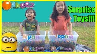 getlinkyoutube.com-ORBEEZ CHALLENGE Surprise Toys with Minions Batman Disney Cars Lighting McQueen Ryan ToysReview