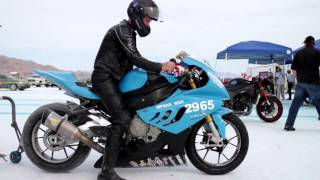 5 Speed World records at Bonneville Salt Flats 2013 with BMW S1000RR