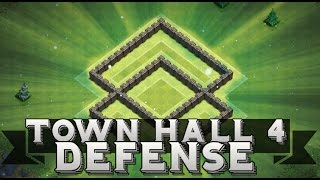 Clash Of Clans | TOWN HALL 4 BASE  DEFENSE + REPLAYS - TH4 Southern Teaser!
