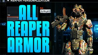 "getlinkyoutube.com-Black Ops 3 - ALL COMPLETED ""REAPER"" GEAR SETS - REAPER ""JUNKYARD"" GEAR SET"